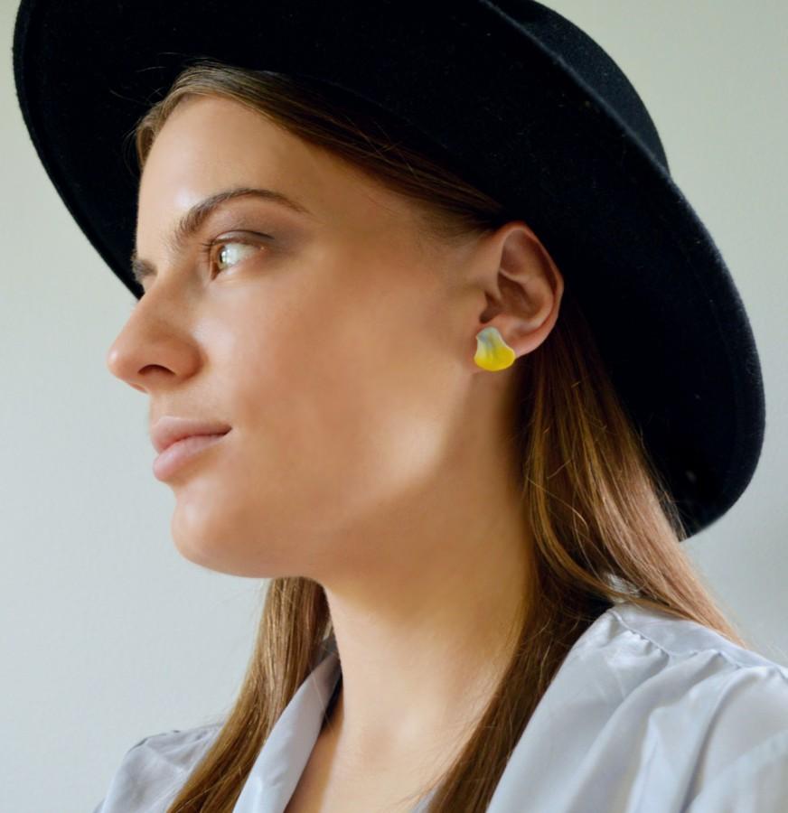 Mini earirings 'Clear sky'